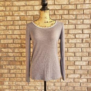 New Ann Taylor long sleeve gray women's top shirt
